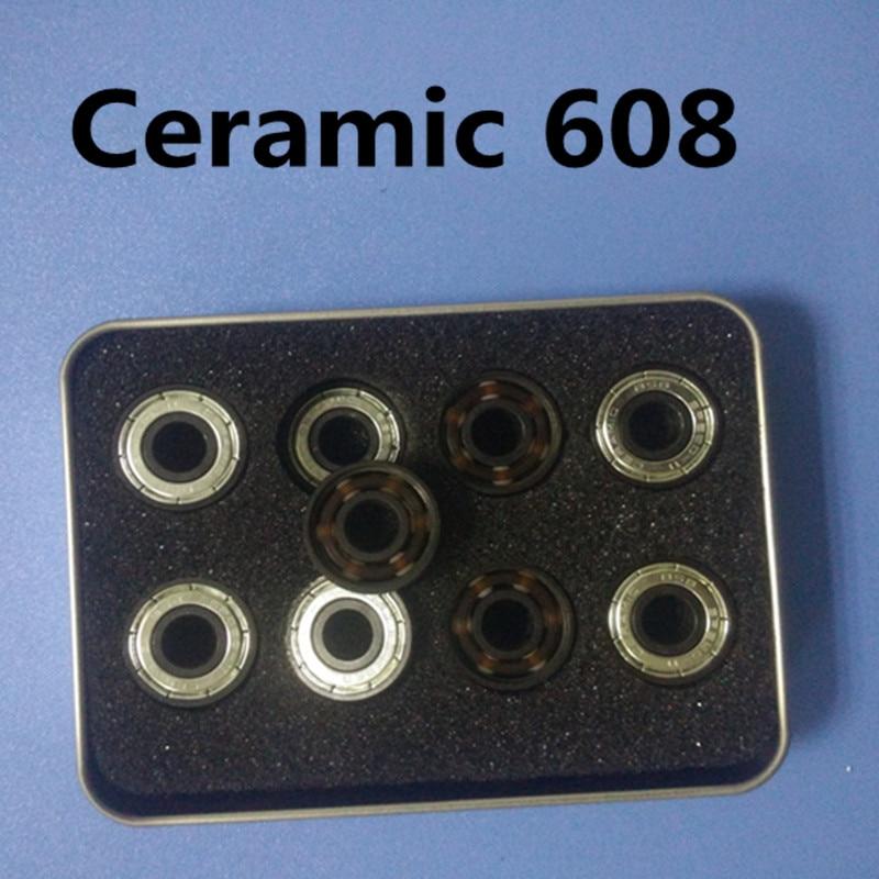 Free shipping  Ceramic inline speed skate bearings 608 ABEC11FreeLine Skate bearing inline roller skate wheels 608Z