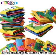 Baby Toys 0 3Years old Intelligence Development Cloth Book Soft Rattles Unfolding Activity Books Cute Kids