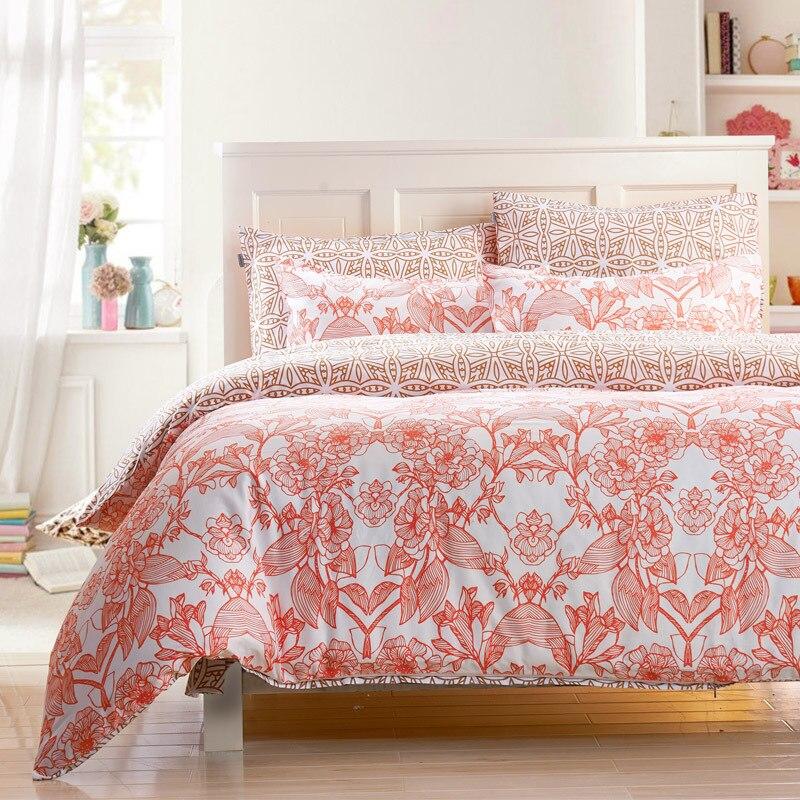 online shop new cotton 4pc duvet cover set ikea style bedding set
