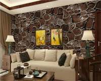 beibehang papel de parede papier peint hudas beauty Retro simulation of stone pattern 3d brick map PVC wallpaper behang