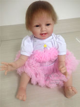 Sweety 55cm 22inch Realistic Magnetic Pacifier Bebe Soft Cotton Body Silicone -Reborn -Baby -Doll 100% Safe Material Reborn Doll