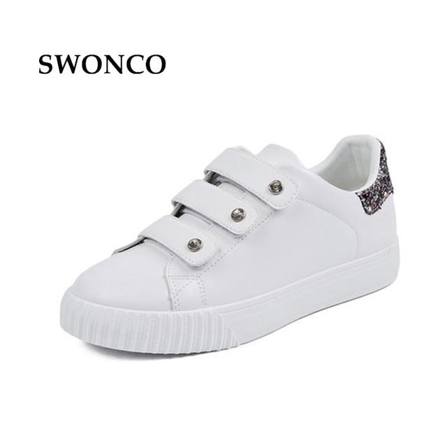 81ea4c0a6 SWONCO Sapatos Sapato Branco 2018 Primavera Calçados Casuais Das Sapatilhas  das Mulheres Sapatas Das Mulheres Das