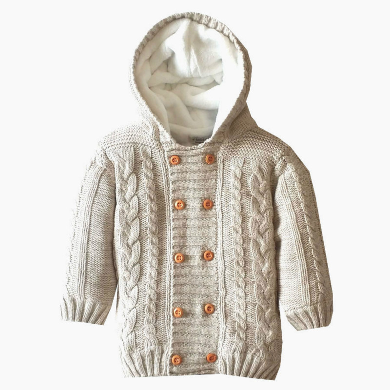 New Arrival Baby winter Sweater Boys and Girls Hooded