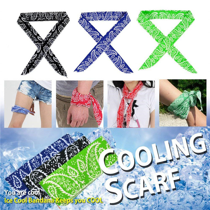 Hiking Scarves Headband Wrap Neck-Cooler Ice-Cooling-Bandana Heatstroke Outdoor-Sports