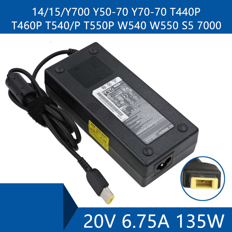 <font><b>Laptop</b></font> AC Adapter DC Charger Connector Port Cable For <font><b>Lenovo</b></font> 14/15/<font><b>Y700</b></font> Y50-70 Y70-70 T440P T460P T540/P T550P W540 W550 S5 7000 image