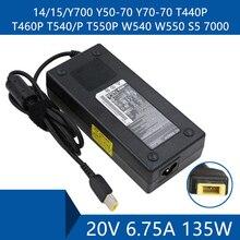 Adaptador de CA para portátil Cable de puerto de conector de cargador DC para Lenovo 14/15/Y700 Y50 70 Y70 70 T440P T460P T540/P T550P W540 W550 S5 7000