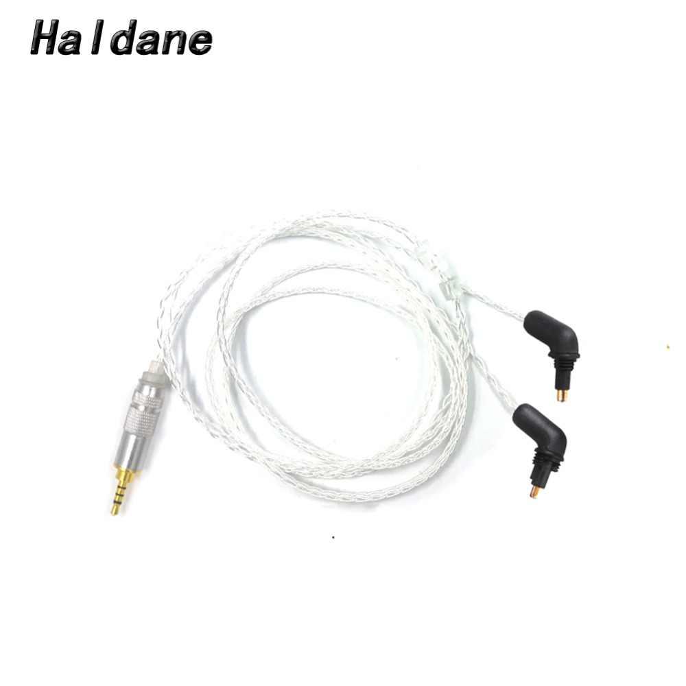 Бесплатная доставка Холдейн 3,5/2,5/4,4 сбалансированный 8 core с серебряным покрытием обновления кабель для наушников EX600 EX800 EX1000 exk MDR-7550 наушники