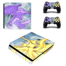 Anime Naruto PS4 Slim Skin Sticker For Sony PlayStation 4 Console and 2 Controllers PS4 Slim Skins Sticker Decal Vinyl