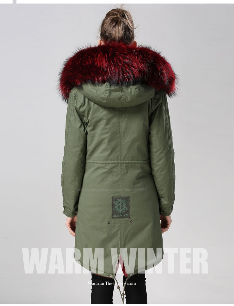 7d6d1c90ae7 US $700.0 |Women's and Men's Luxury Faux Fur Long Winter Trench Coat Jacket  fur Hooded Parka Overcoat Fur trimmed canvas long parka-in Faux Fur from ...