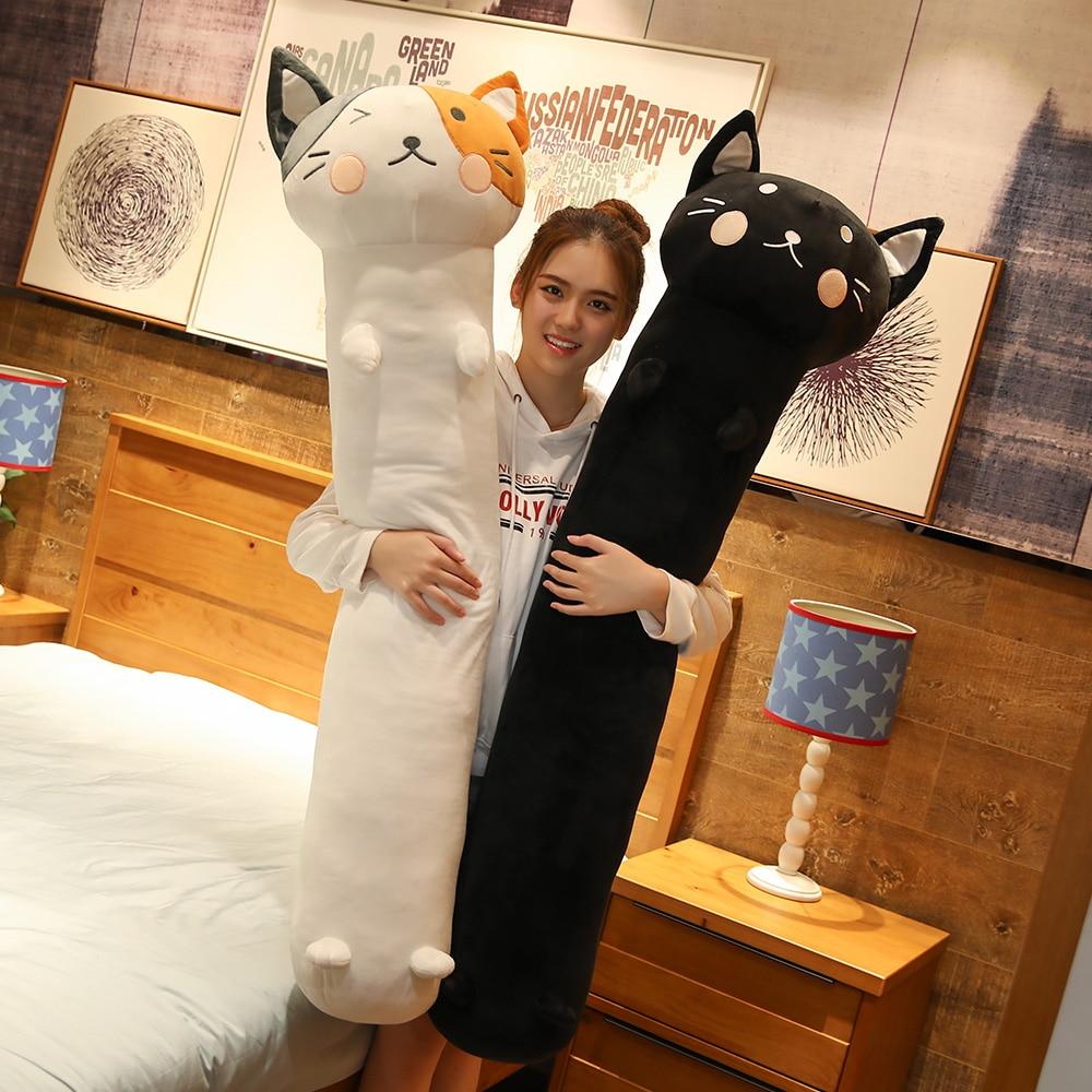 90cm-140cm Kawaii Plush Cat Toys Stuffed Animal Dolls Kids Gift Doll Lovely Dog Toys  Home Decoration Soft Pillows