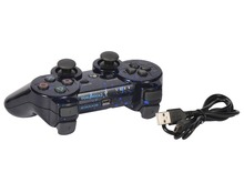 Kabi Bluetooth Wi-fi Recreation Romote Controller Joysticks with Twin Vibration for PS3 PlayStation Three Controller Blue Spots
