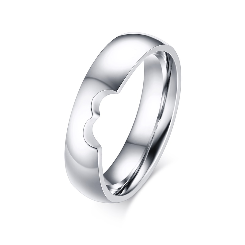 Online shop vnox half heart wedding rings for women men alliance online shop vnox half heart wedding rings for women men alliance simple anniversary band ring bijoux engagement jewelry gift aliexpress mobile junglespirit Choice Image