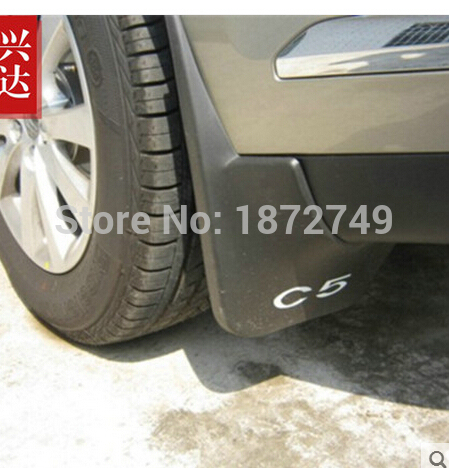 For Citroen C5  Sport  Soft plastic Mud Flaps Splash Guard Fender  Free shipping 2010-2012