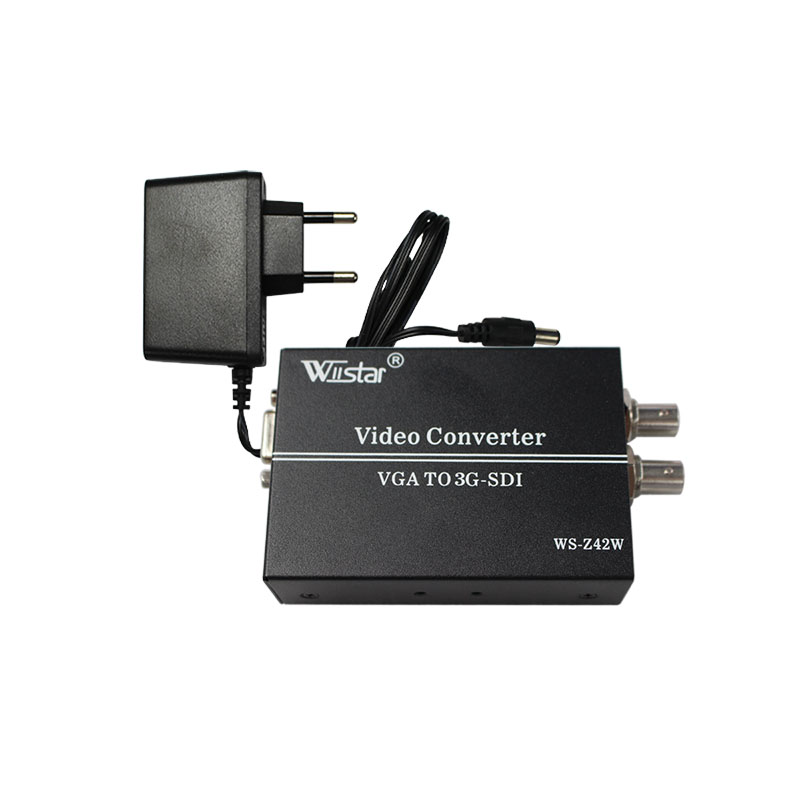 Wiistar Free Shipping  VGA To 3G-SDI converter SCALER 1080P Broadcast General Display Sdi Professional Monitor redamigo 100m hd 3g sdi to vga scaler converter audio video sdi to vga with power adapter for hdtv cctv pc