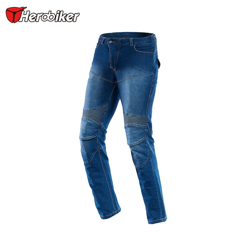 Windproof Motorcycle Racing Jeans Casual Pants Men's Motorbike Motocross Off-Road Knee Protective Motor Jeans Trousers защита для мотоциклиста racing motocross knee protector pads guards protective gear