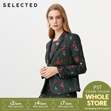SELECTED Women's Vintage Business-casual Suit Jacket S|418408503(China)