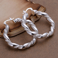 New Arrival Twisted Earrings For Women Wedding Jewelry Fashion Exquisite Silver Plated Vintage Clip Earrings High Quality