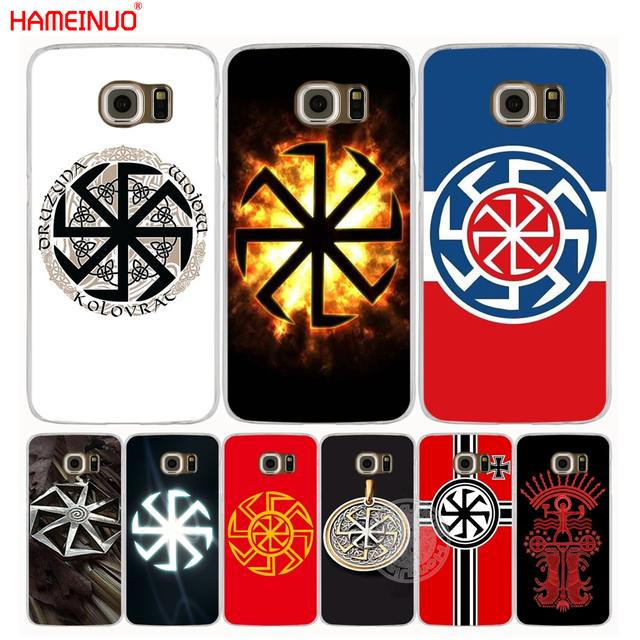 Hameinuo Slavic Symbol Kolovrat Cell Phone Case Cover For Samsung