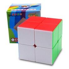 Qiyi 50mm Cubo Magico 2x2x2 קסם קוביית 2 על ידי 2 קסם קוביות Striae תחרות 2x2 קוביות חינוכיים צעצועים לילדים משחק קוביית מתנה