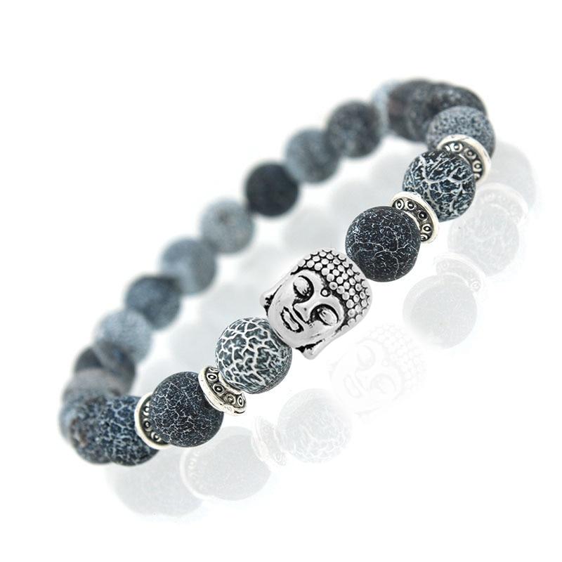 2017 Men Women Jewelry Bracelets Bangles Nature Stone Tiger Owl Lion Buddha Skull Leopard Yoga Beaded Ball Chain Wristband Band