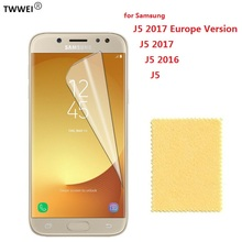 Clear Screen Protector for Samsung Galaxy J5 2016 2017 Protective Film on for Samsung J5 2017 2016 Screen Protector Film Foil protective clear screen protector film guard for samsung galaxy s3 mini i8190 transparent 3 pcs