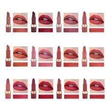 Natural Lipstick Tint Nude Lipstick Matte Batom Waterproof Makeup Lips Matte Lip Stick Cosmetics Sexy Red Lip Lipstick Cosmetics цена 2017