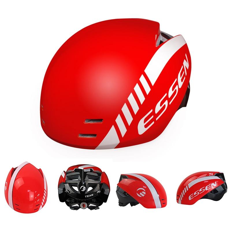 ESSEN Hommes Casque De Vélo VTT Route Casque Dans Le moule Vélo En Plein Air Intelligent Casque Vélo Équitation Racing Bouchon Sécurité capacete ciclismo 2019