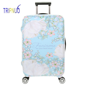 """TRIPNUO Thickest Travel Flamingos Luggage Cover Suitcase Protective Cover for Trunk Case Apply to 19""""-32"""" Suitcase Elastic"""