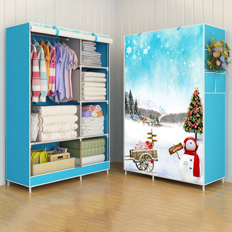 Image 5 - GIANTEX Cloth Wardrobe For clothes Fabric Folding Portable Closet Storage Cabinet Bedroom Home Furniture-in Wardrobes from Furniture