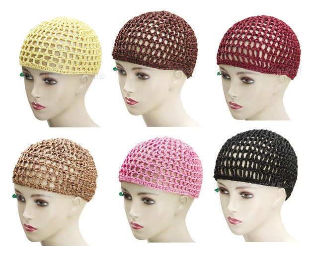 New Fashion Crochet Hair Snood Bun Cover Net Hat Sleeping Caps In