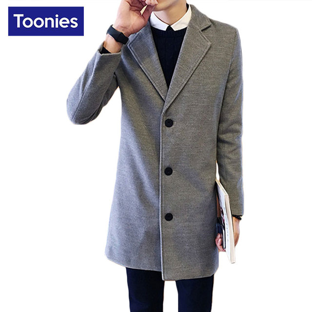 Longo Manteau Homme Marca-roupas Cáqui Trench Coat Homens Moda Homens Britânicos Casaco Business Casual Mens Longo Casaco Corta-vento