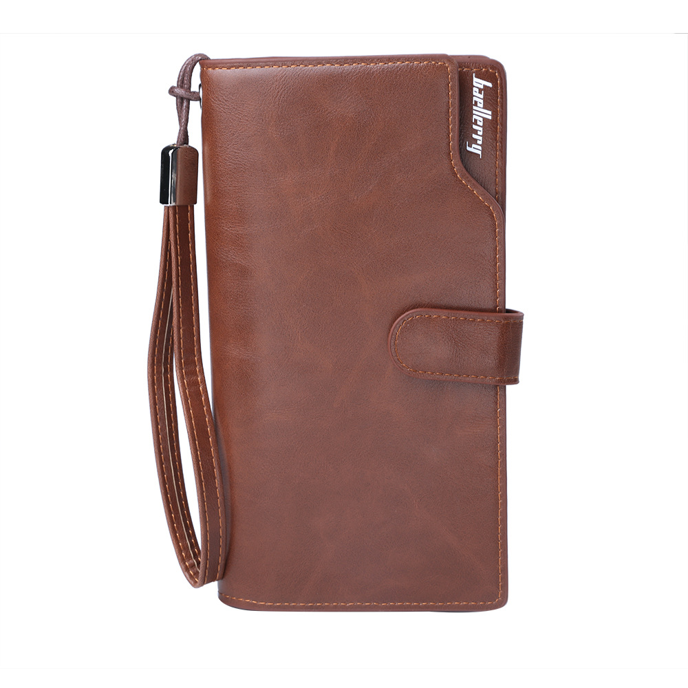 Baellerry NEW Men Wallets Leather Long Clutch Purse Zipper & Hasp Men Walet Portomonee Rfid Luxury Brand Money Bag Coin Purse