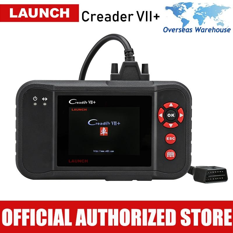 Двигатель/Коробка передач/подушки безопасности/ABS инструмент диагностики авто читальный инструмент кодов Launch 100% оригинальный Creader Vii+ OBDII ав...