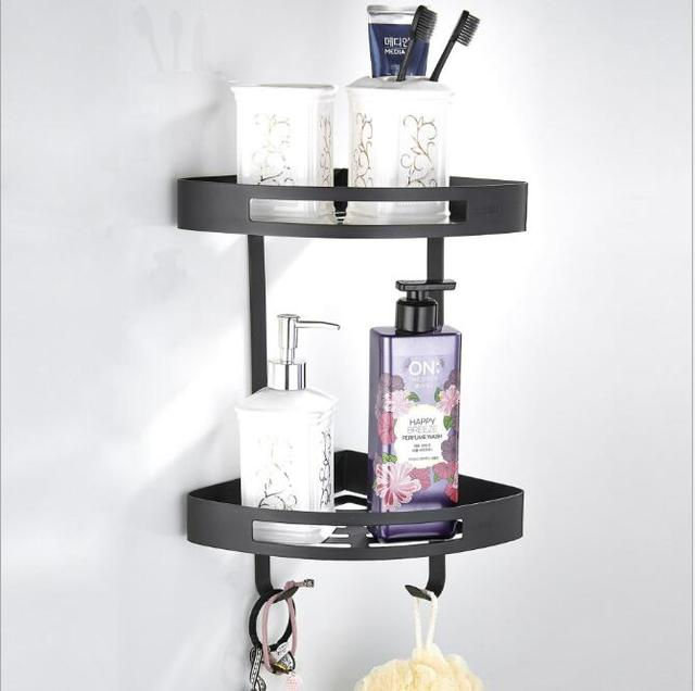 New Bathroom Shelves Stainless Steel 2 Tier Corner Shelf Shower ...