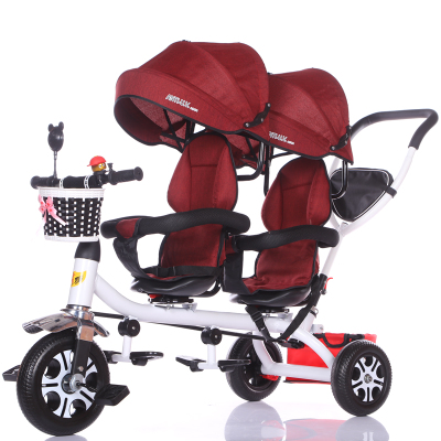 Lightweight Twin Tricycle Children S Double Seat Bicycle Baby Car Twin Baby Stroller