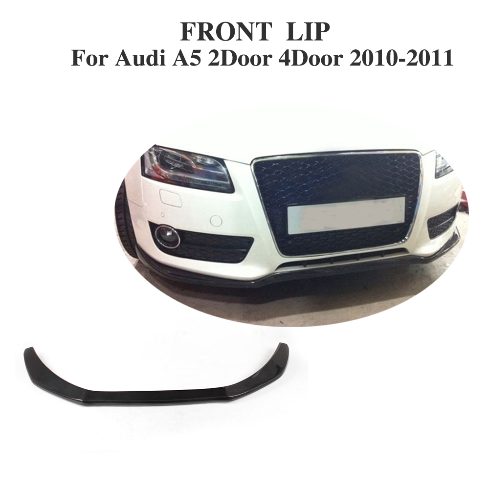 Carbon Fiber Front Lip Spoiler Aprons Fit for Audi A5 2-Door 4-Door Non-Sline Bumper 2010-2011 Car Tuning Parts