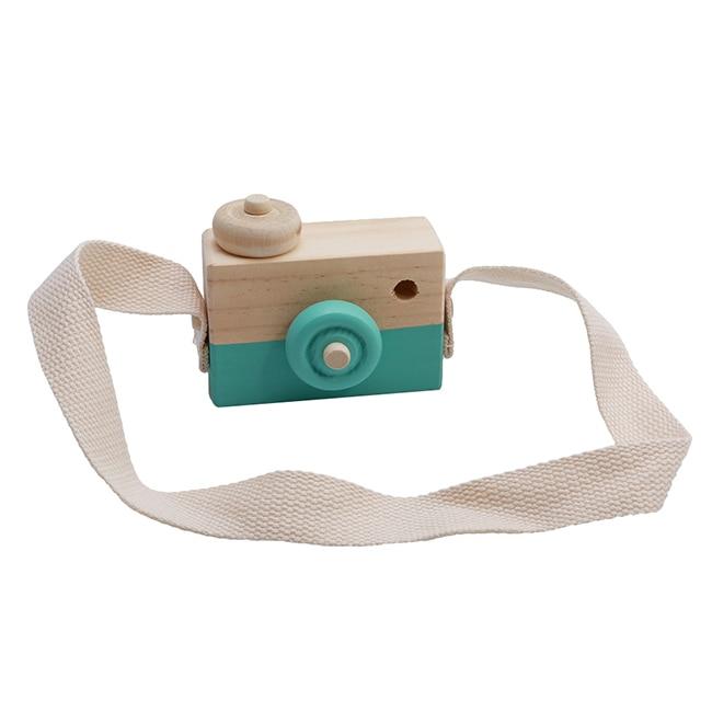 Скандинавский Европейский стиль камера Игрушки для маленьких детей декор комнаты предметы мебели ребенок Рождество День рождения деревянные подарки - Цвет: Green