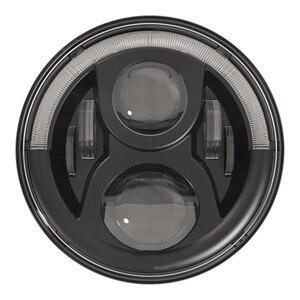 Image 2 - Marloo Dot Emarked (Links/Rechts Drive) 7 Inch Ronde Led Koplamp Hoge Dimlicht Voor Jeep Wrangler Jk Tj Lj Cj Hummber H1 H2