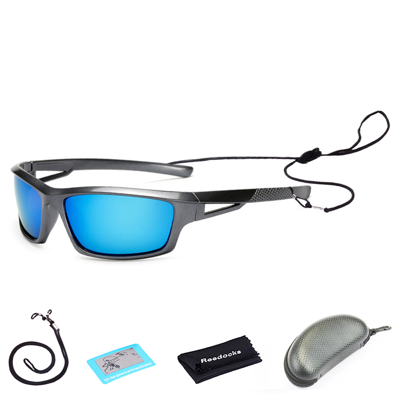 Polarizadas pesca gafas de sol rojo azul lentes versión de la noche ... 41f9e87a9235