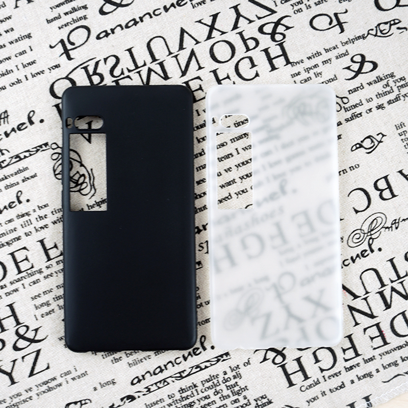 Cas pour Meizu Pro 7 7 Plus Cas de Couverture Arrière pour Meizu Pro7 7 Plus D'origine Qualité TPU Matériau Doux au Toucher Mignon Transparent mat