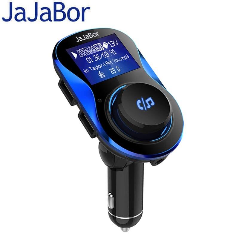 JaJaBor Bluetooth De Voiture Kit Mains Libres Sans Fil Transmetteur FM De Voiture MP3 lecteur avec 1.4 pouce Grand Écran LCD Support Carte TF/U disque