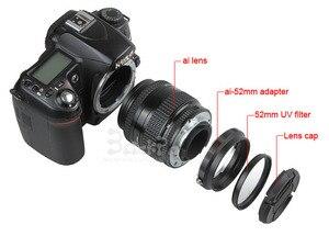 Image 4 - Kit de anillo de protección inversa de lente Macro 4 en 1 ai a 52mm cpl uv filtro cap anillo adaptador para d80 d90 d3100 d3200 d5100 d5200 d7000