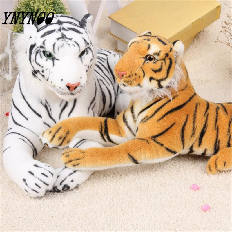 YNYNOO Cute Plush Tiger Animal Toys White Yellow Lovely Stuffed Doll Animal Pillow Children Kids Birthday Gift 25cm Z294 free shipping emulate tiger plush animal stuffed toy gift for friend kids children kids boys birthday party gifts zoo king