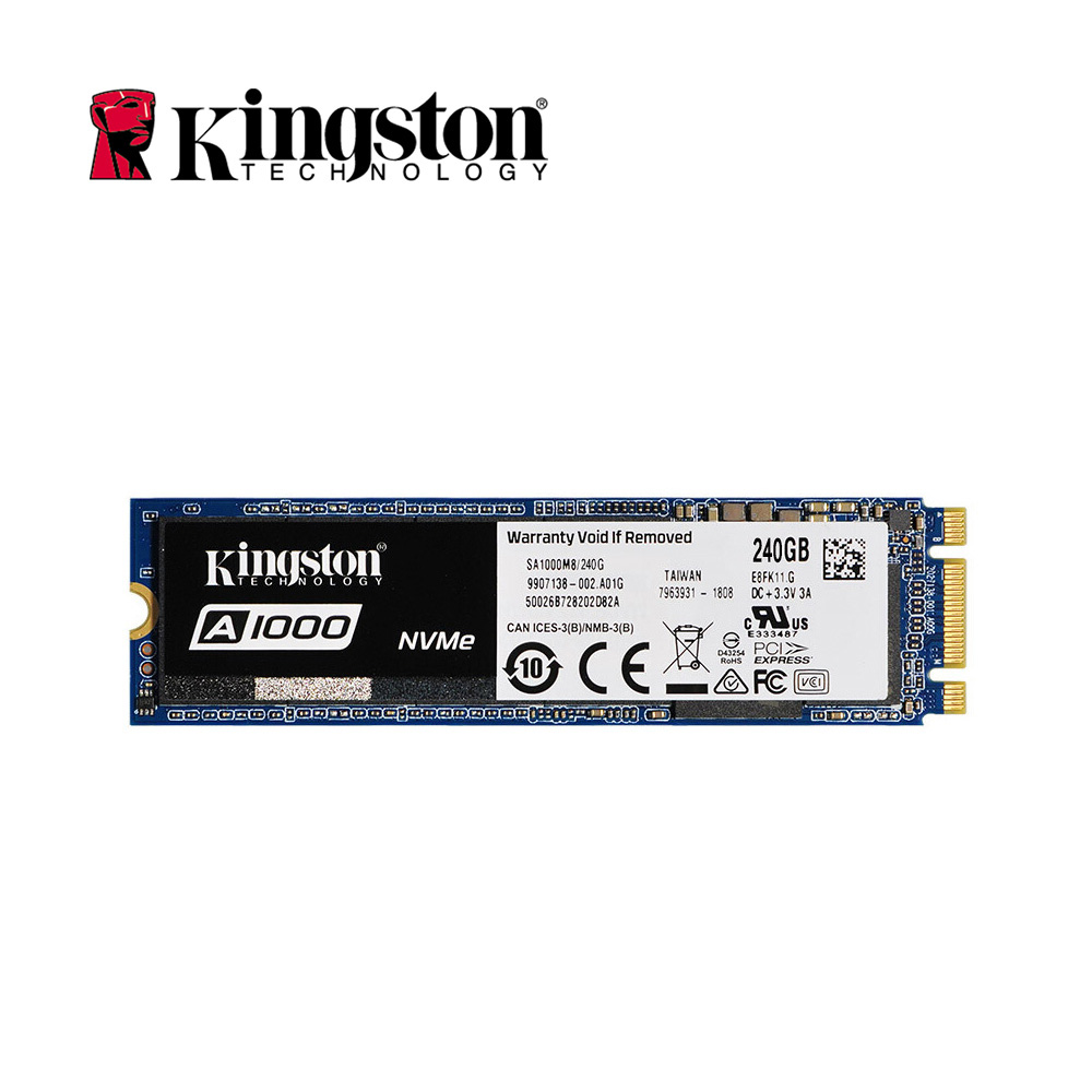 Kingston Original Internal Solid State Drive A1000 NVMe 3D TLC M.2 2280 SATA 240GB 480GB 960GB SSD Hard Disk For PC Notebook HD