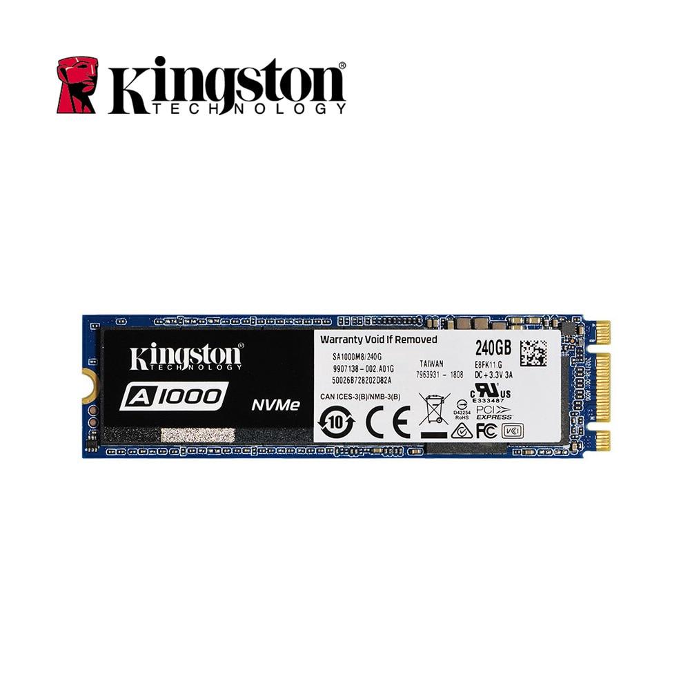 Kingston interior Original de unidad de estado sólido A1000 NVMe 3D TLC M.2 2280 SATA 240 GB 480 GB 960 GB SSD en el disco duro para PC portátil HD