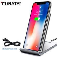 TURATA 10 W Smart USB ЦИ Беспроводной Зарядное устройство для iPhone X 7 8 плюс Беспроводной Зарядное устройство s адаптер для samsung Galaxy Note 8 5 S8 плюс