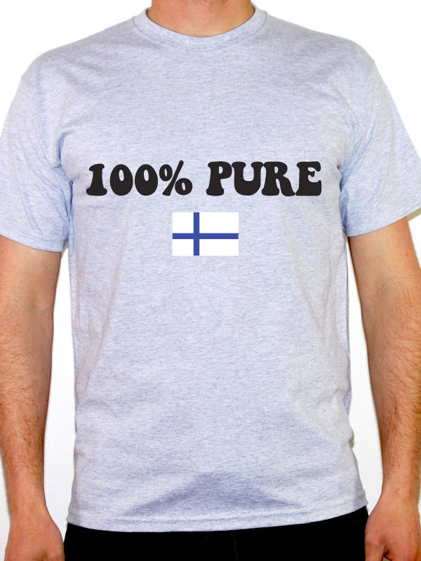Men 2019 Print T <font><b>Shirt</b></font> Men 100% Pure Finnish - <font><b>Finland</b></font> / Nordic / <font><b>Flag</b></font> / Novelty Themed Mens Tee <font><b>Shirt</b></font> funny Tops Tees image