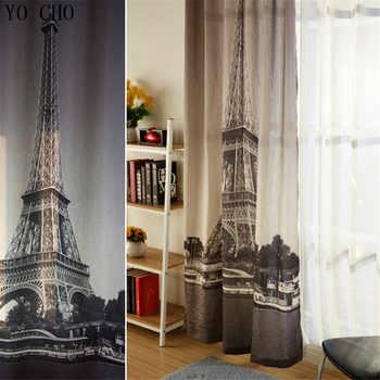 Paris Eiffel Tower Blinds blackout curtains 3d Modern Thicken linen curtains european style blackout curtains for bedroom room