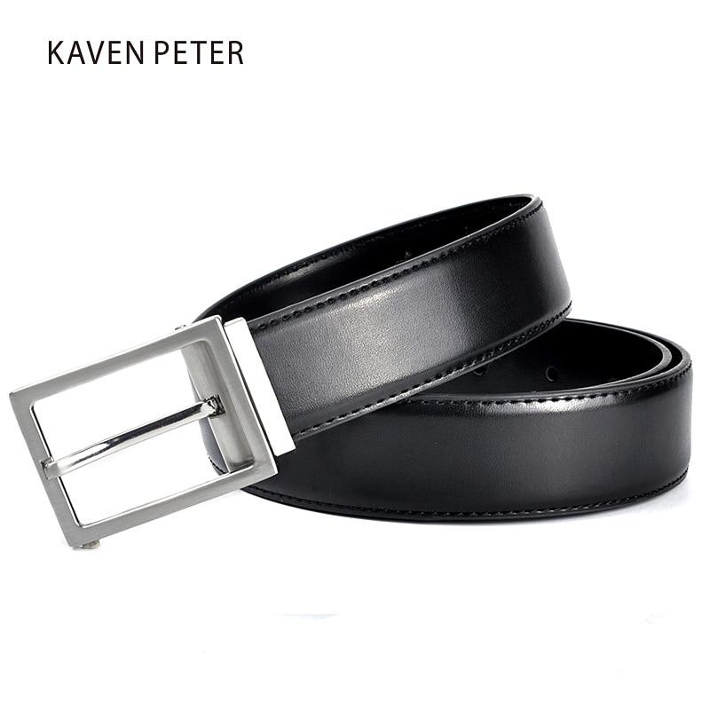 Lederen riem mannen bruine en zwarte kleur luxe merk lederen riemen - Kledingaccessoires - Foto 4