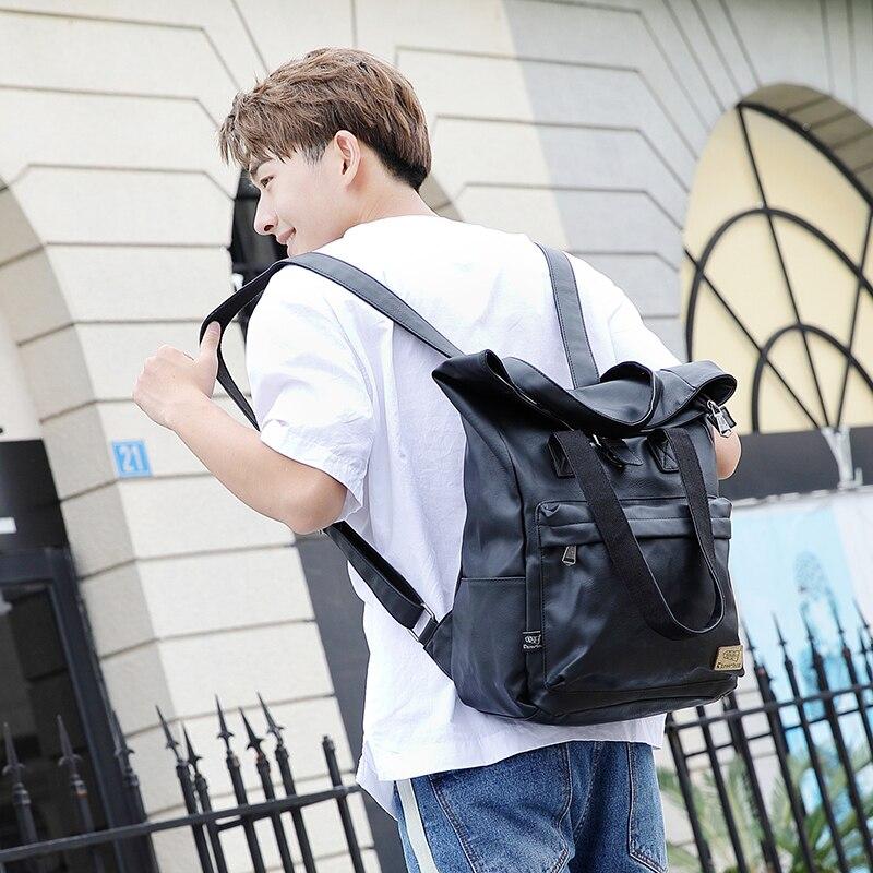 2019 Fashion Trend Backpack Shoulder Bag Student Schoolbag for Men College Wind Leisure Travel Harajuku Bag2019 Fashion Trend Backpack Shoulder Bag Student Schoolbag for Men College Wind Leisure Travel Harajuku Bag
